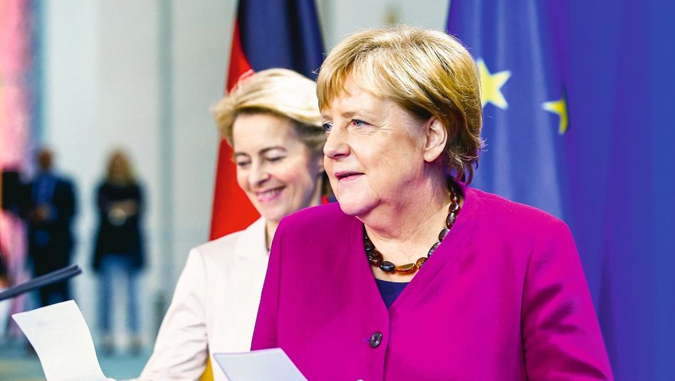 DER SPIEGEL: Merkel and Von Der Leyen The Two Women Who Could Transform Europe
