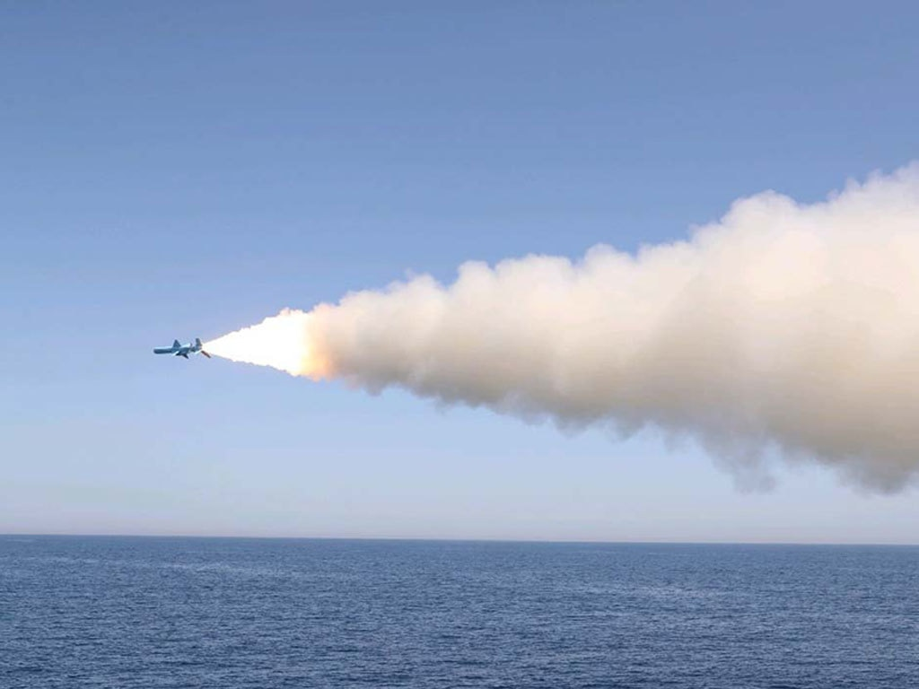 Iran test fired cruise missiles in a naval exercise in the Oman Sea and Northern Indian Ocean, on Thursday, according to our field reporter.
