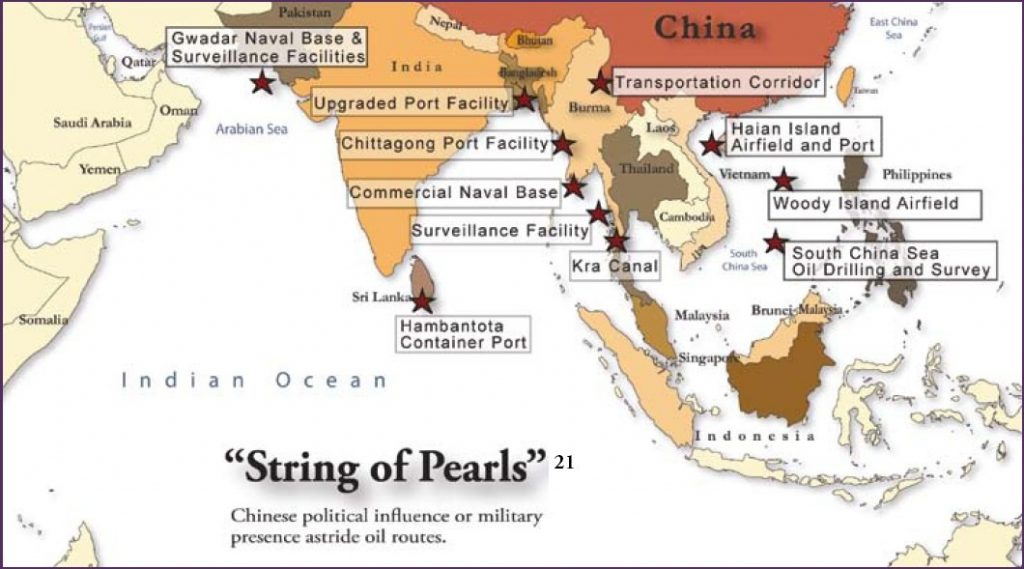 CHINA'S STRING OF PEARLS IN PERIL