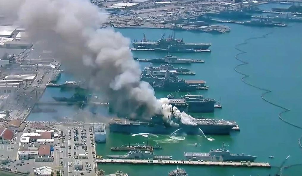 Lack of reasons for the explosion in the US aircraft carrier in San Diego