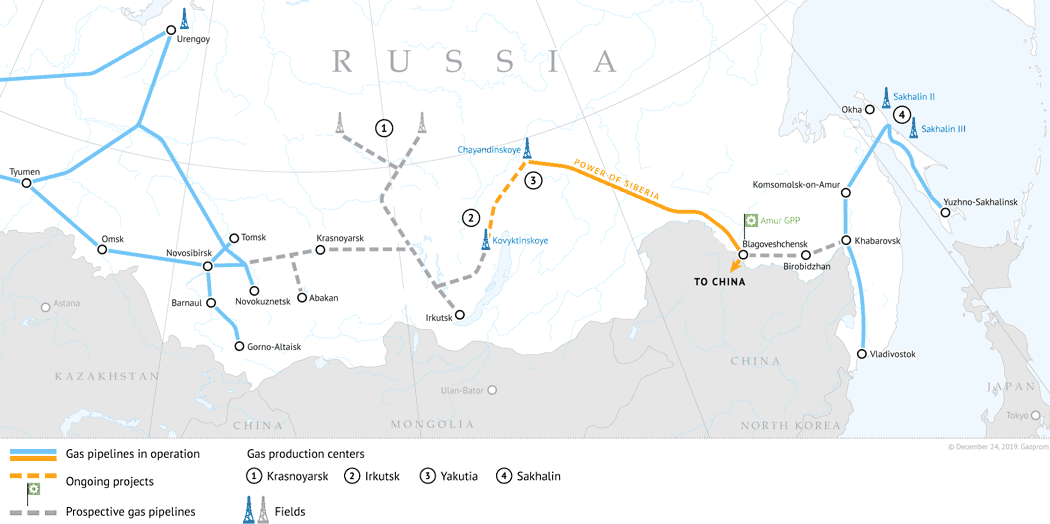 Russian Gas to Supply China through CREP from Dec 2020